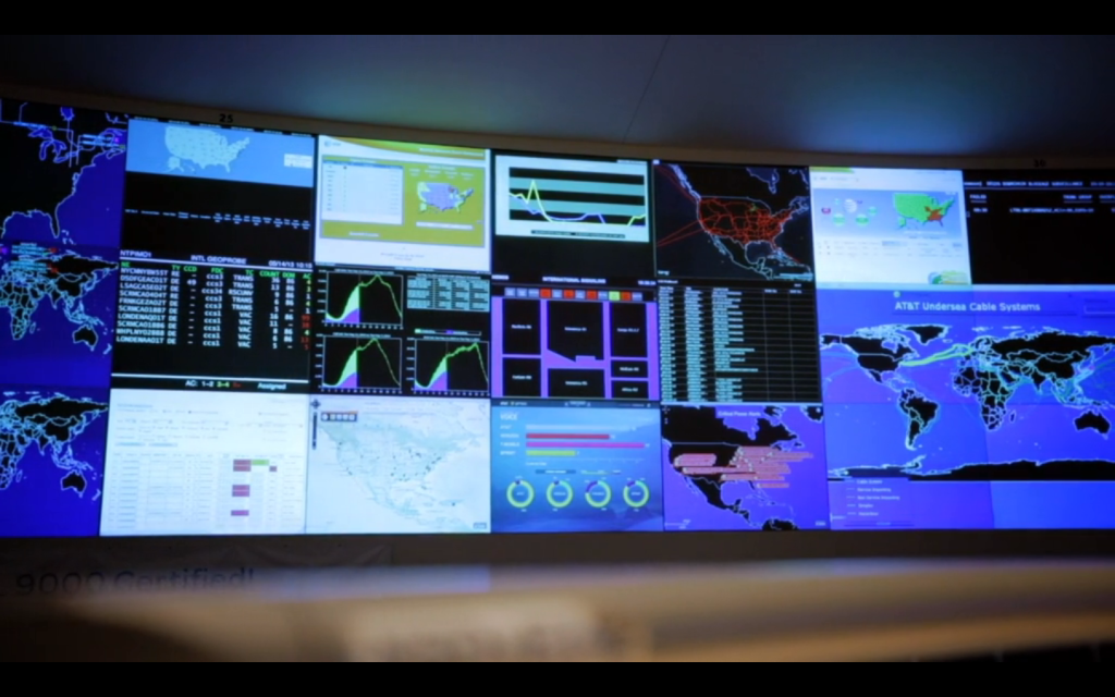 View on the large shared dashboard at AT&T (in the video at 1:20)